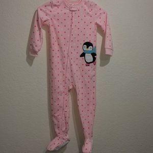 New Carters Big-Girls 1 Pc Fleece Footed Blanket